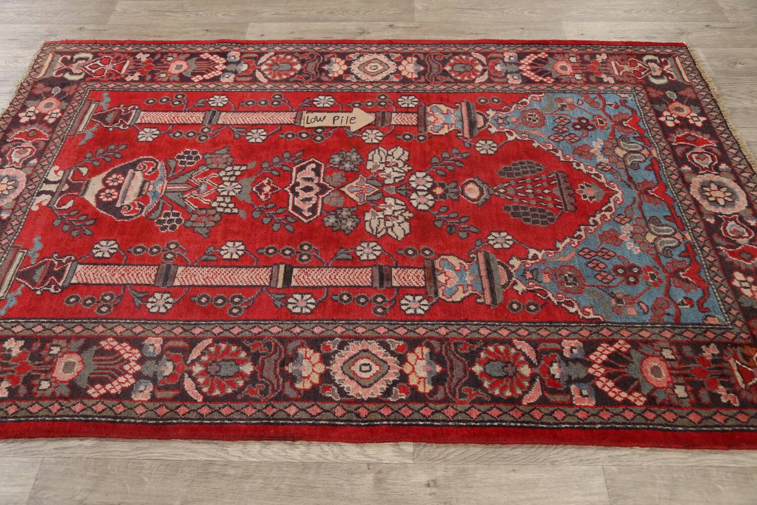Pictorial Najafabad Persian Area Rug 4x7 image 13