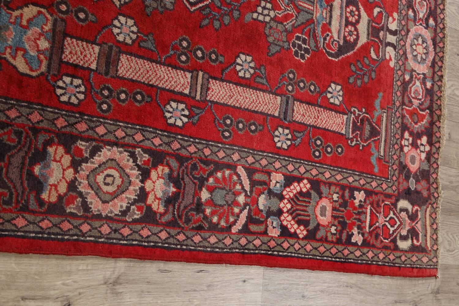 Pictorial Najafabad Persian Area Rug 4x7 image 14