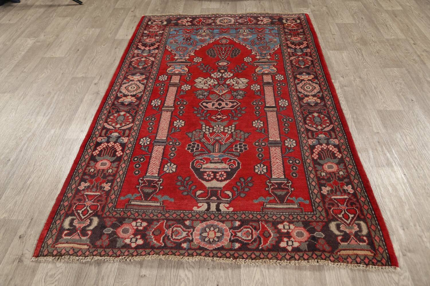 Pictorial Najafabad Persian Area Rug 4x7 image 16