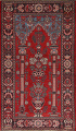 Pictorial Najafabad Persian Area Rug 4x7 image 1