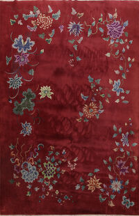 Floral Art Deco Chinese Oriental Area Rug 9x12