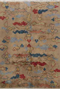 Abstract Art Deco Chinese Oriental Area Rug 8x12