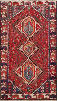 Tribal Bakhtiari Persian Area Rug 4x7
