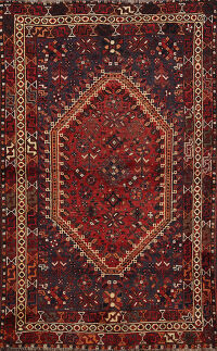 Antique Vegetable Dye Tribal Lori Persian Area Rug 4x6