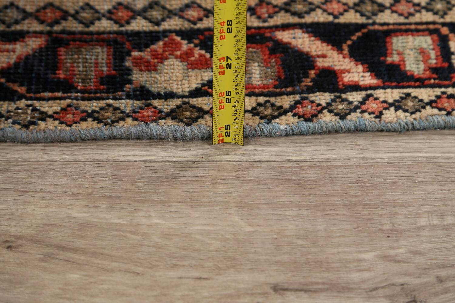 Antique Floral Mahal Persian Area Rug 4x7 image 19