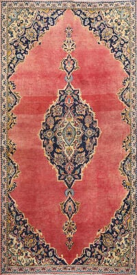 Floral Kashan Persian Area Rug 3x6