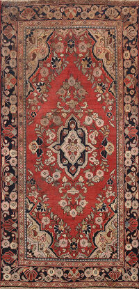 Floral Kashan Persian Area Rug 4x6