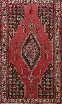 Antique Tribal Hamedan Persian Area Rug 4x7
