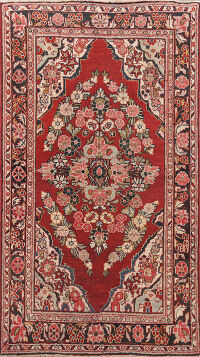 Antique Floral Mahal Persian Area Rug 4x7