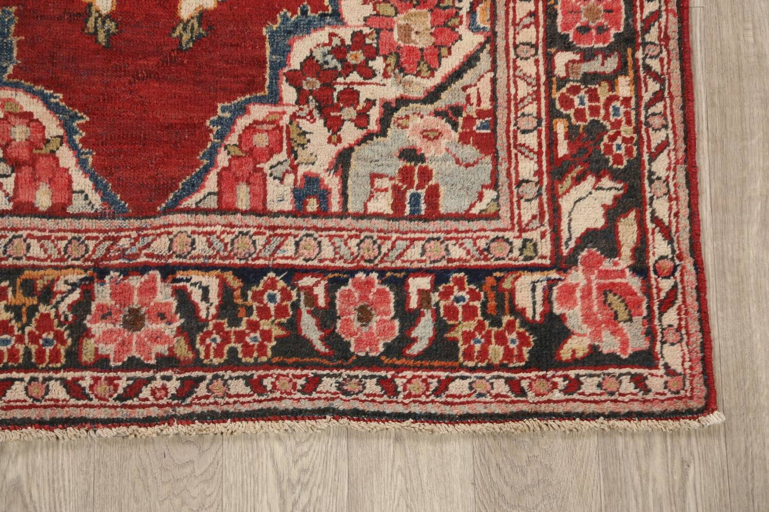 Antique Floral Mahal Persian Area Rug 4x7 image 5