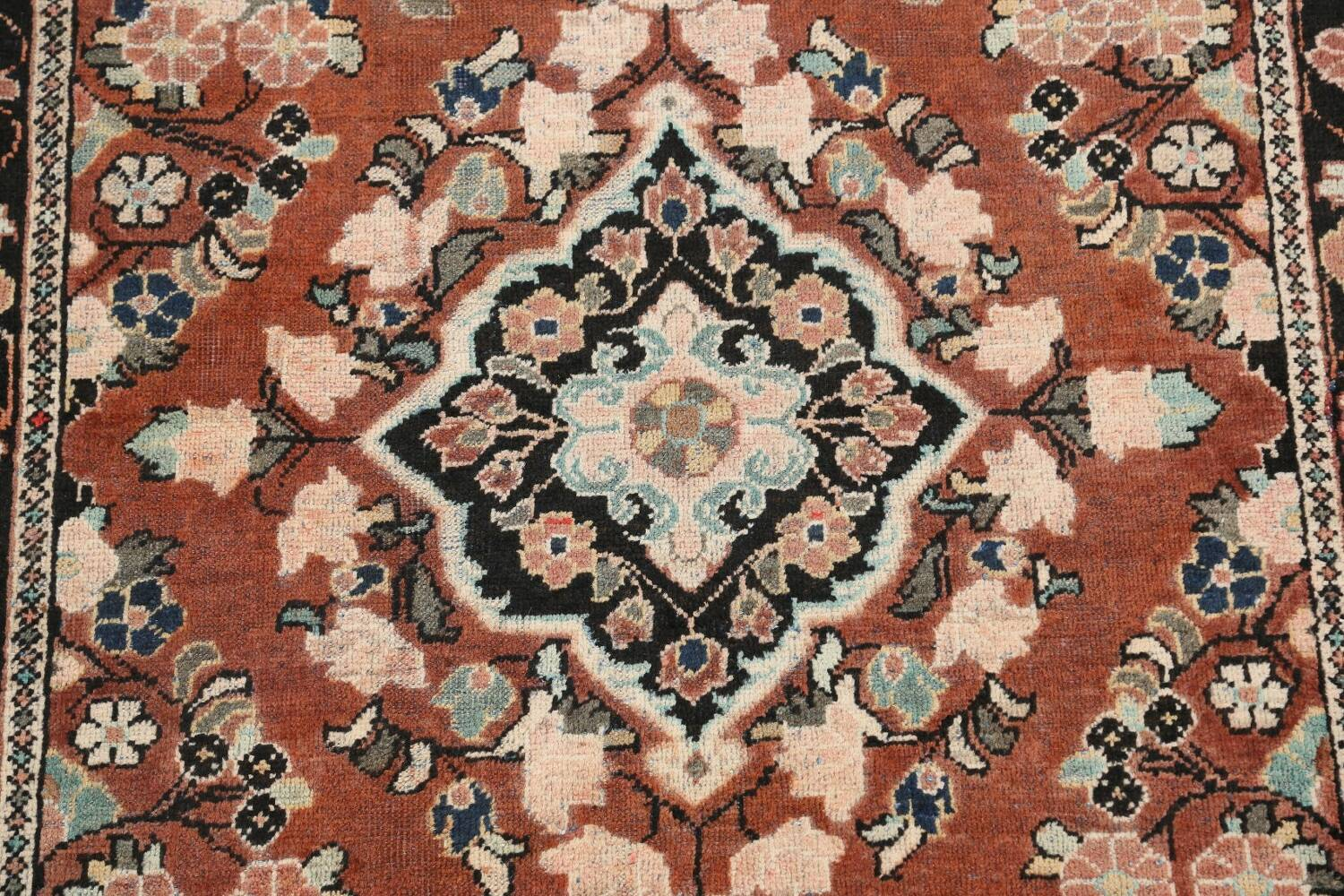 Antique Floral Mahal Persian Area Rug 4x6 image 4
