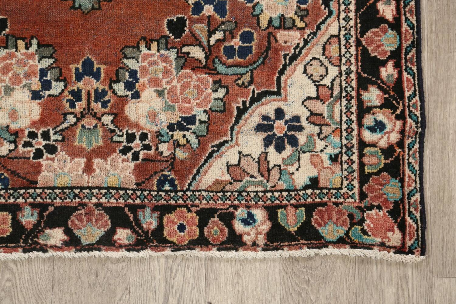 Antique Floral Mahal Persian Area Rug 4x6 image 5