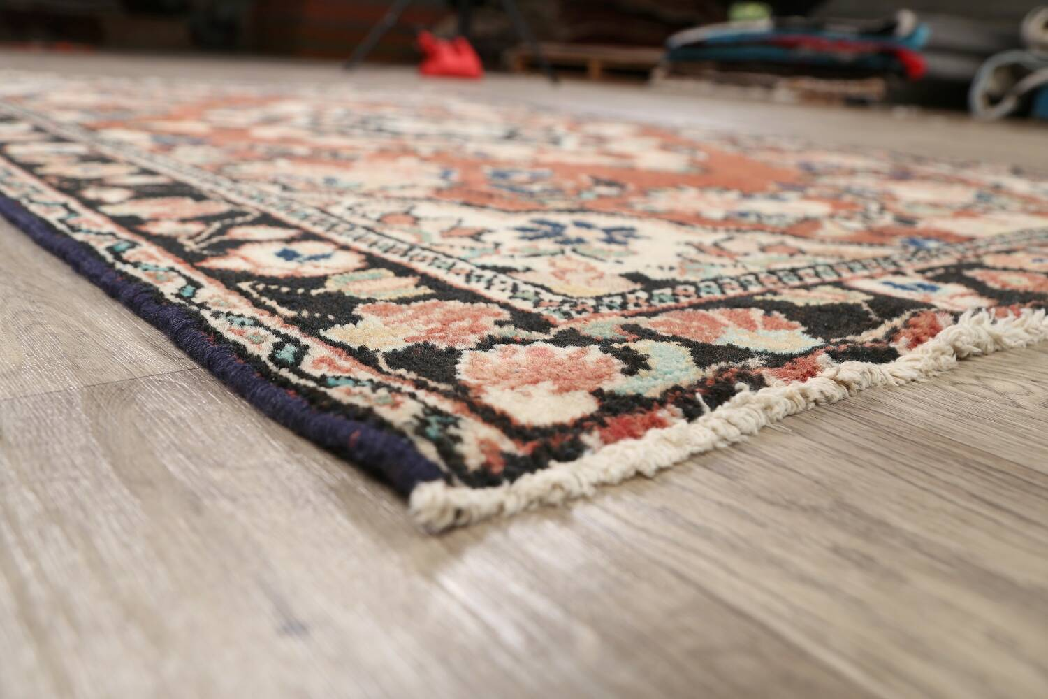 Antique Floral Mahal Persian Area Rug 4x6 image 6