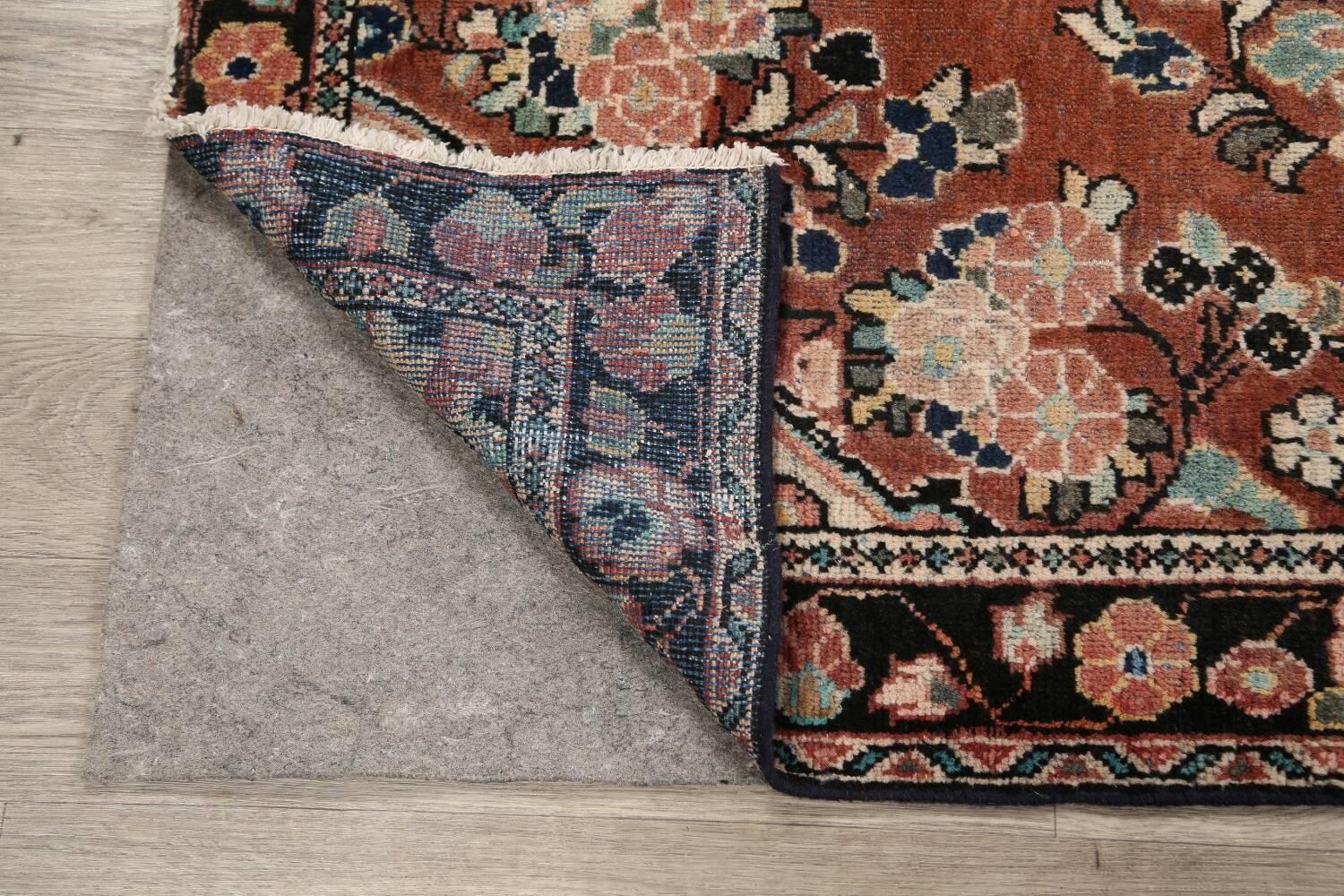 Antique Floral Mahal Persian Area Rug 4x6 image 7