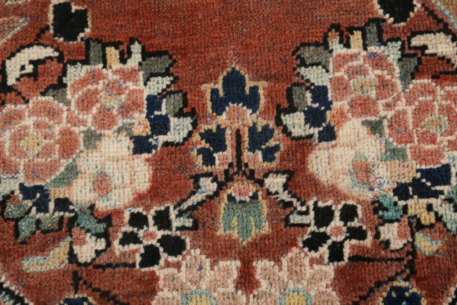 Antique Floral Mahal Persian Area Rug 4x6 image 9