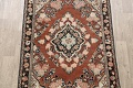 Antique Floral Mahal Persian Area Rug 4x6 image 3