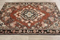 Antique Floral Mahal Persian Area Rug 4x6 image 13