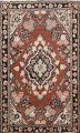 Antique Floral Mahal Persian Area Rug 4x6 image 1