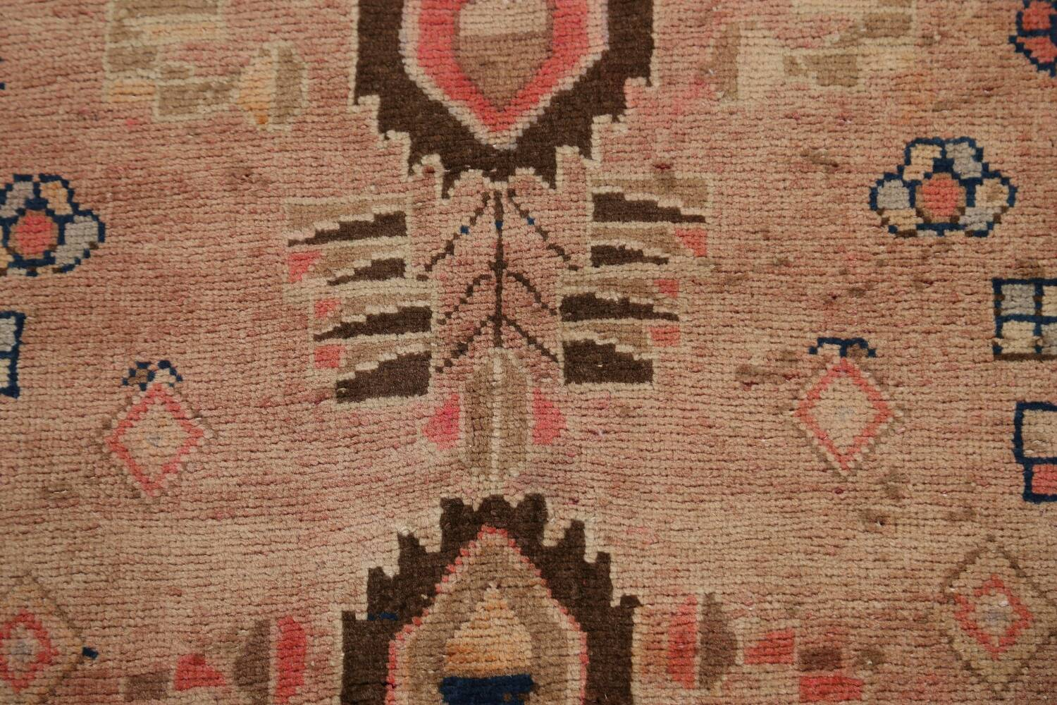 Antique Vegetable Dye Sultanabad Persian Runner Rug 4x9 image 10