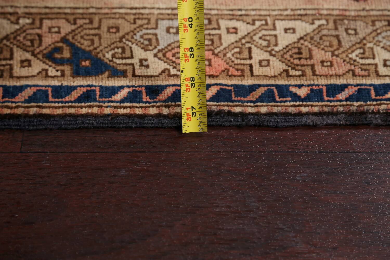 Antique Vegetable Dye Sultanabad Persian Runner Rug 4x9 image 22