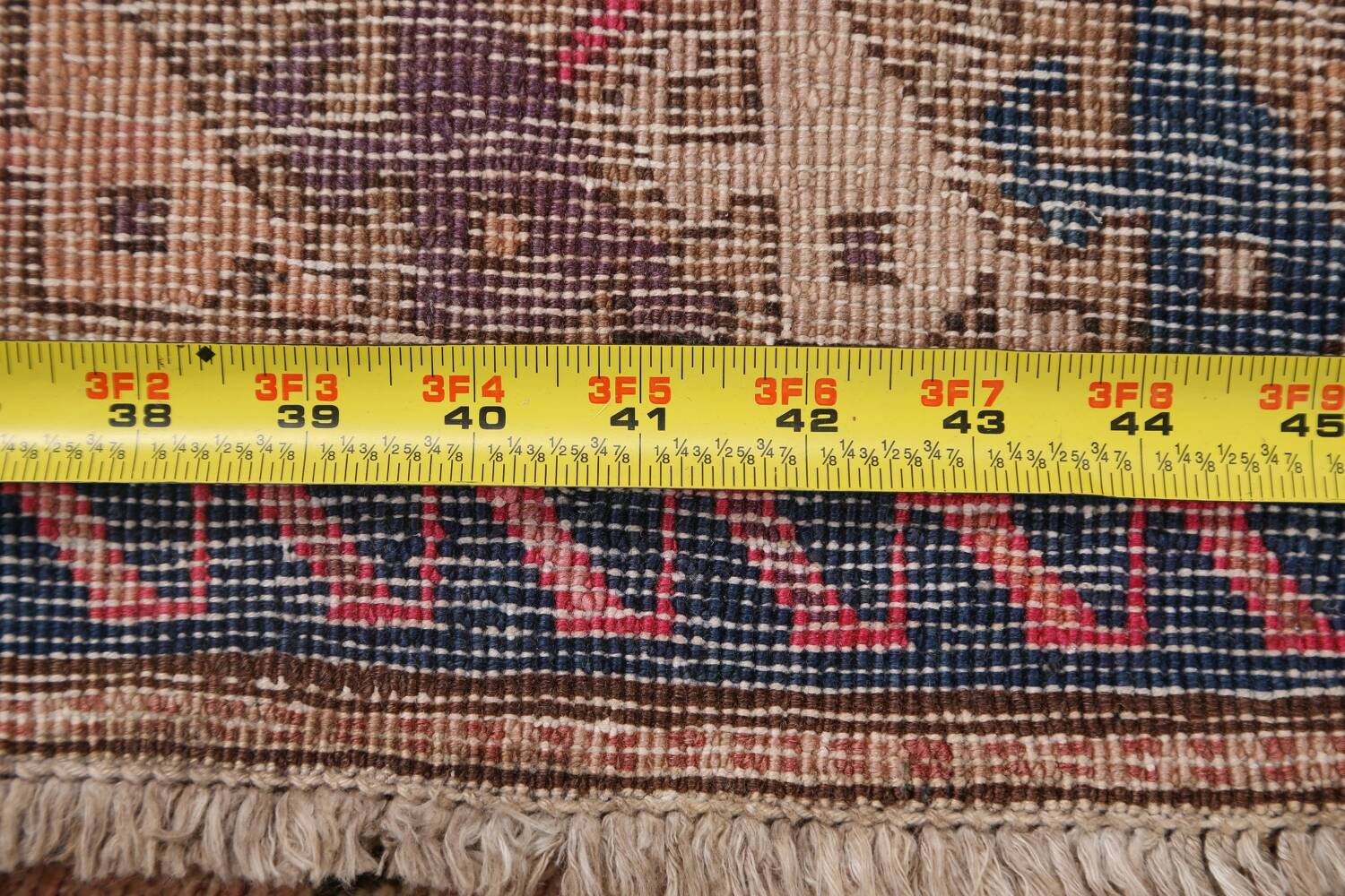 Antique Vegetable Dye Sultanabad Persian Runner Rug 4x9 image 23
