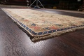Antique Vegetable Dye Sultanabad Persian Runner Rug 4x9 image 6