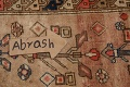 Antique Vegetable Dye Sultanabad Persian Runner Rug 4x9 image 12