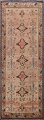 Antique Vegetable Dye Sultanabad Persian Runner Rug 4x9 image 1