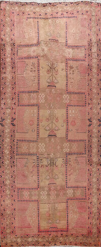 Antique Meshkin Persian Runner Rug 5x11