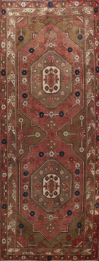 Antique Mahal Persian Runner Rug 4x10