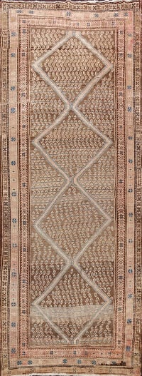 Antique Vegetable Dye Malayer Persian Runner Rug 4x10