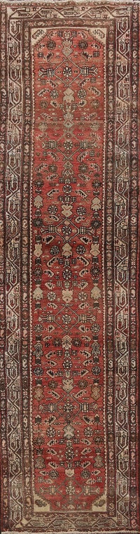 Antique Vegetable Dye Malayer Persian Runner Rug 3x9