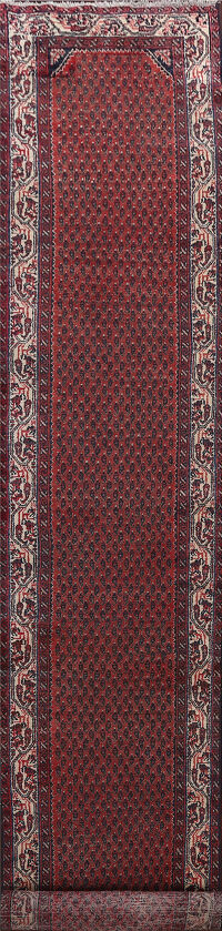 Antique Vegetable Dye Malayer Persian Runner Rug 3x18