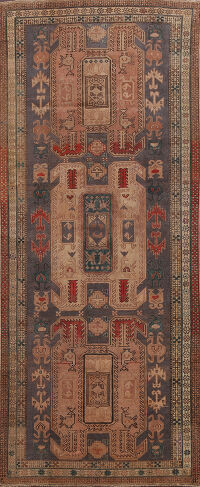 Antique Tribal Ardebil Persian Runner Rug 4x10