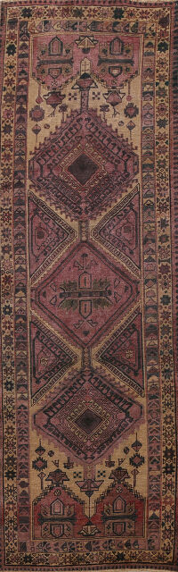 Antique Tribal Ardebil Persian Runner Rug 3x10