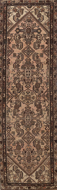 Antique Malayer Persian Runner Rug 3x10
