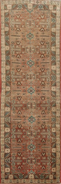 Antique Tribal Tabriz Persian Runner Rug 4x10