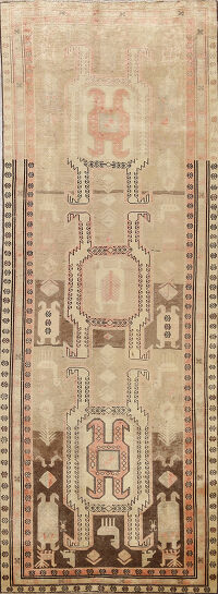Tribal Ardebil Persian Runner Rug 4x11