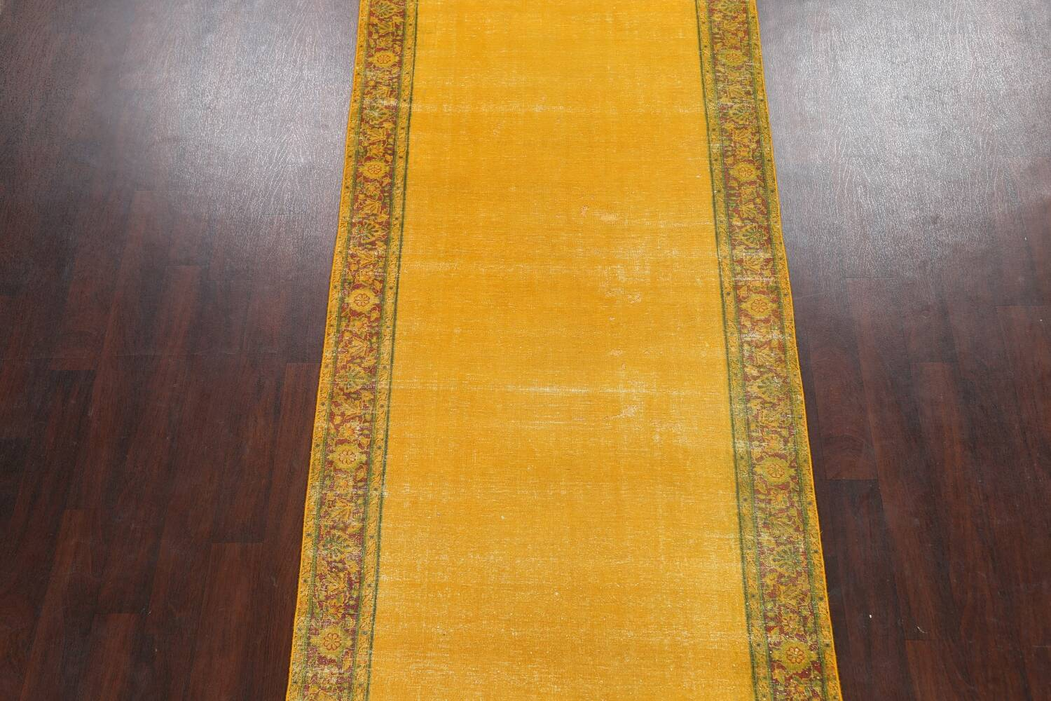 Antique Over-dyed Kerman Persian Runner Rug 4x21 image 3