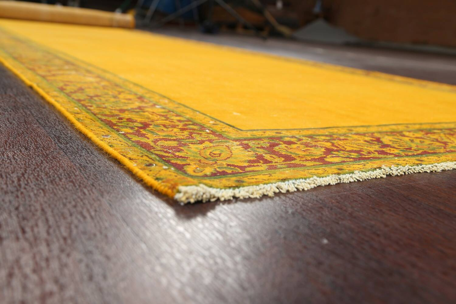 Antique Over-dyed Kerman Persian Runner Rug 4x21 image 6