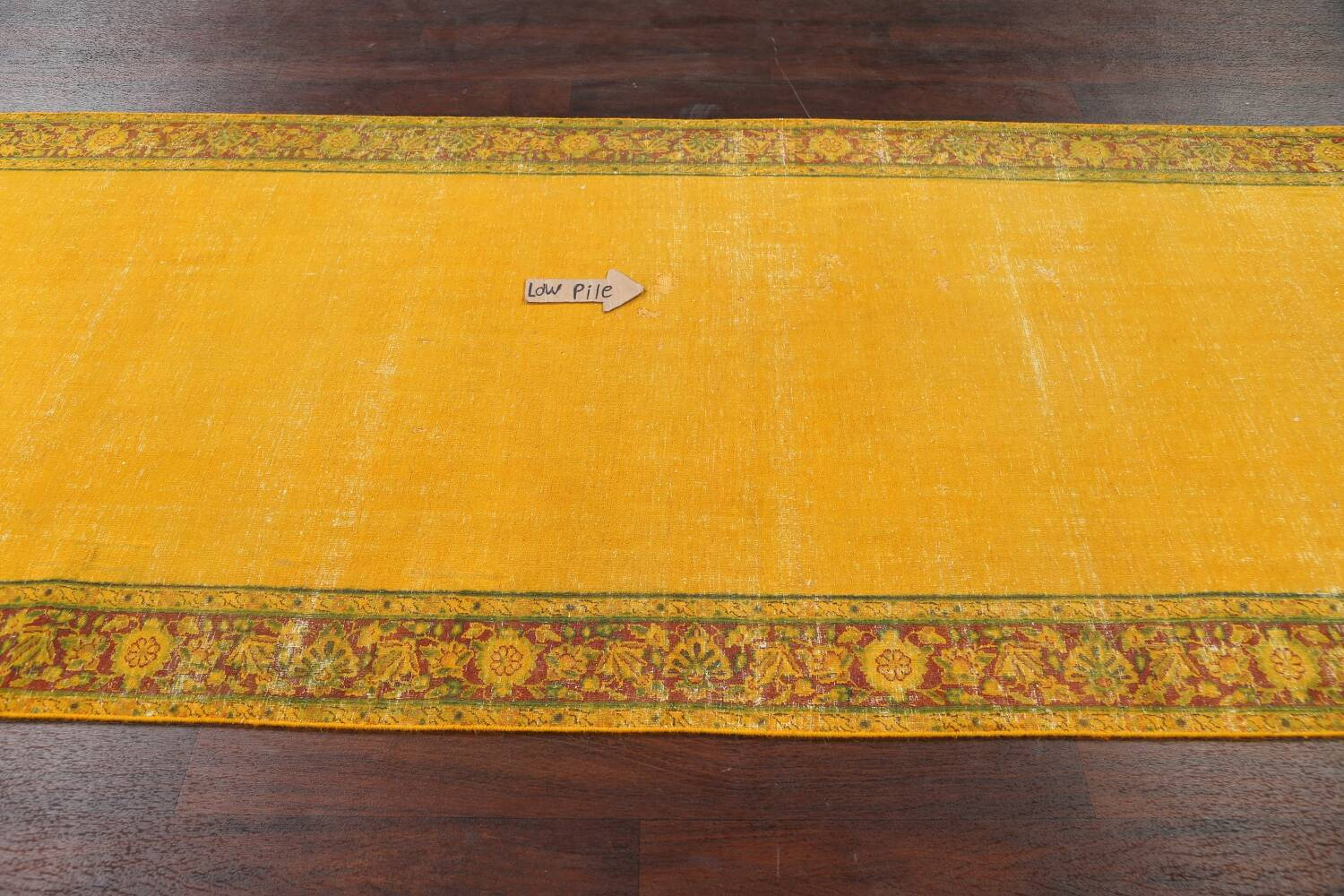 Antique Over-dyed Kerman Persian Runner Rug 4x21 image 12