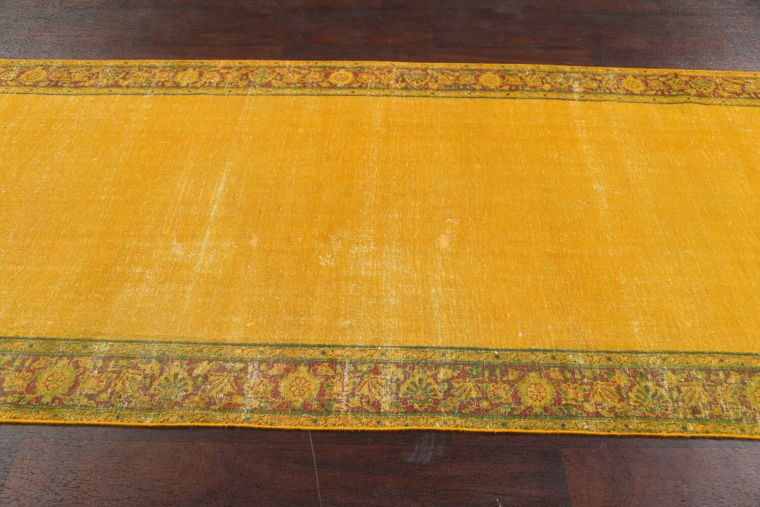 Antique Over-dyed Kerman Persian Runner Rug 4x21 image 14
