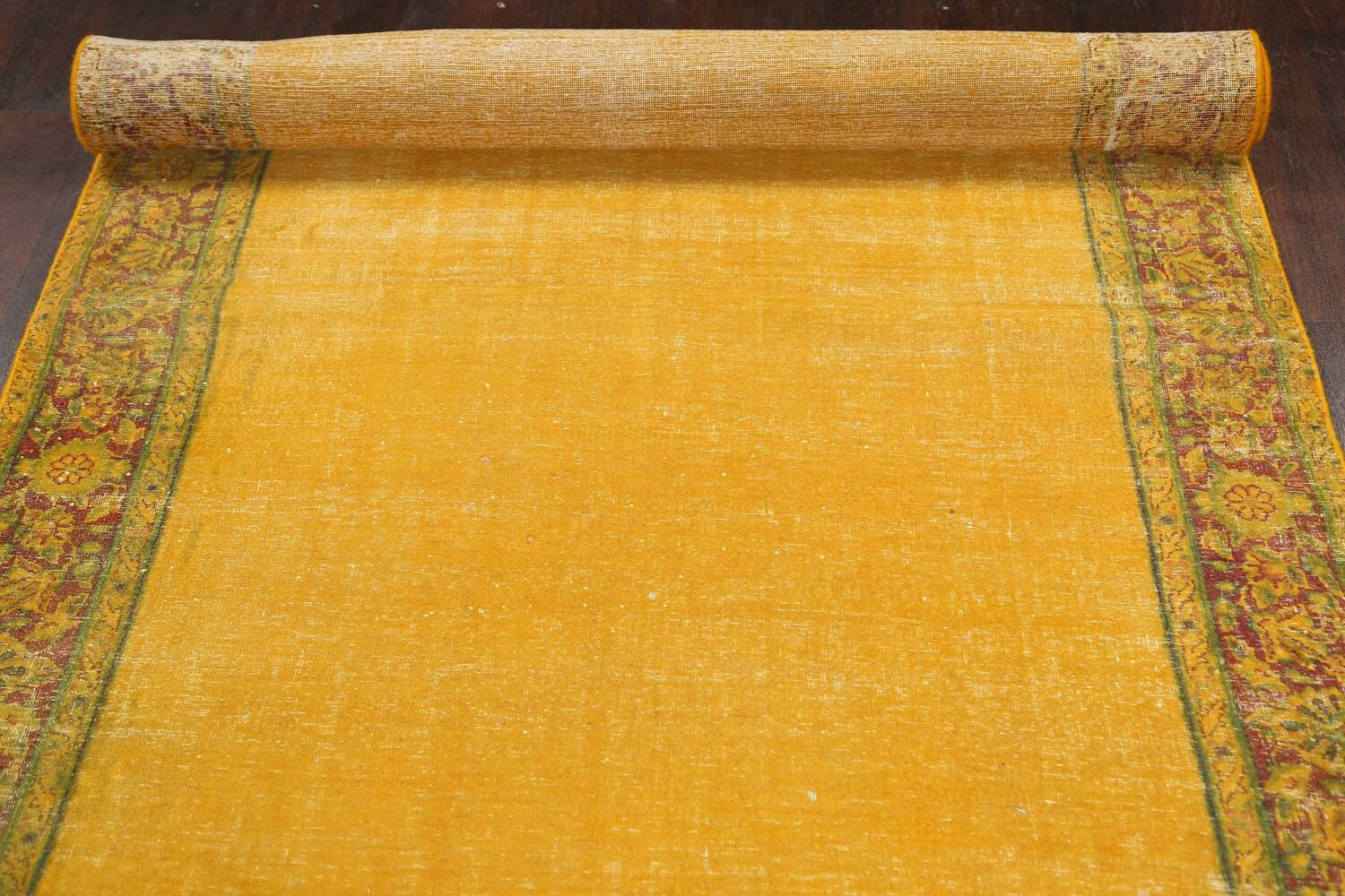 Antique Over-dyed Kerman Persian Runner Rug 4x21 image 16