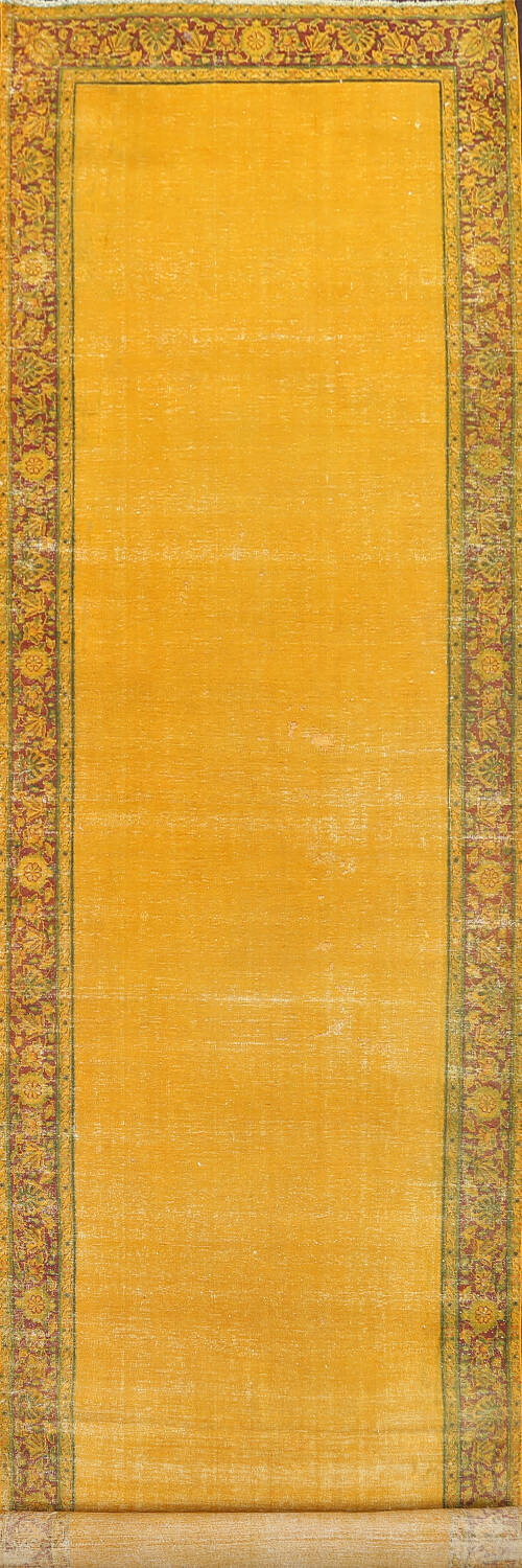 Antique Over-dyed Kerman Persian Runner Rug 4x21 image 1