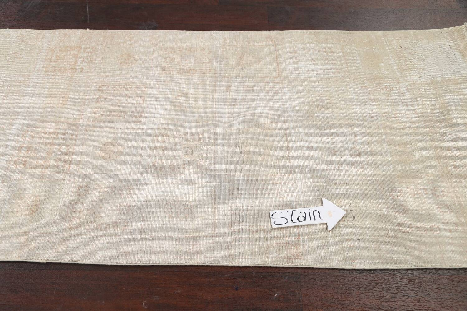 Muted Distressed Tabriz Persian Area Rug 3x6 image 11