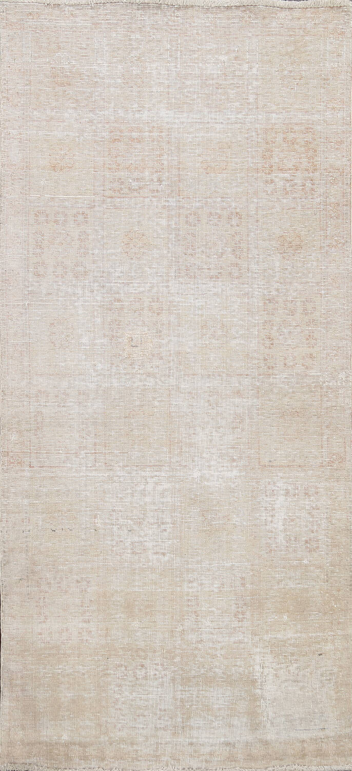 Muted Distressed Tabriz Persian Area Rug 3x6 image 1