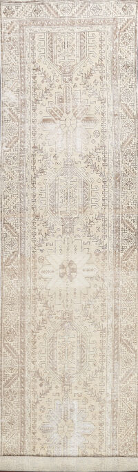 Antique Heriz Serapi Persian Runner Rug 3x14