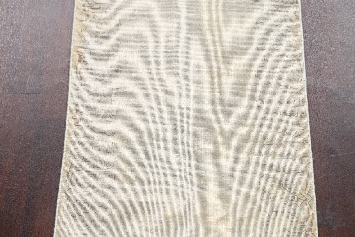Muted Distressed Tabriz Persian Runner Rug 3x12 image 4