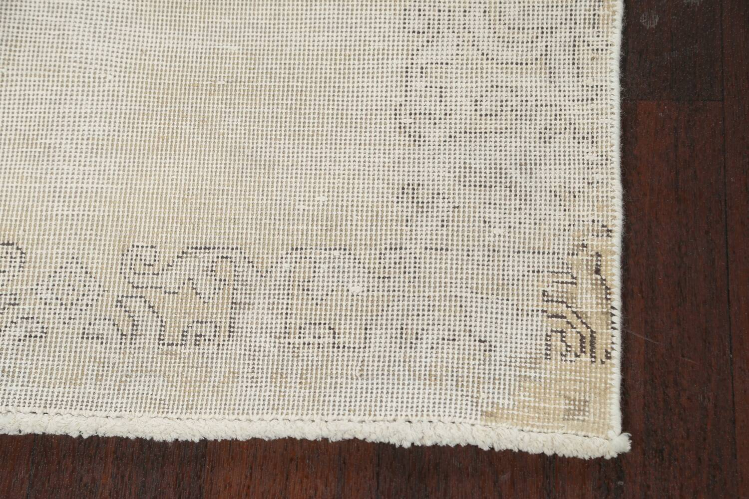Muted Distressed Tabriz Persian Runner Rug 3x12 image 5