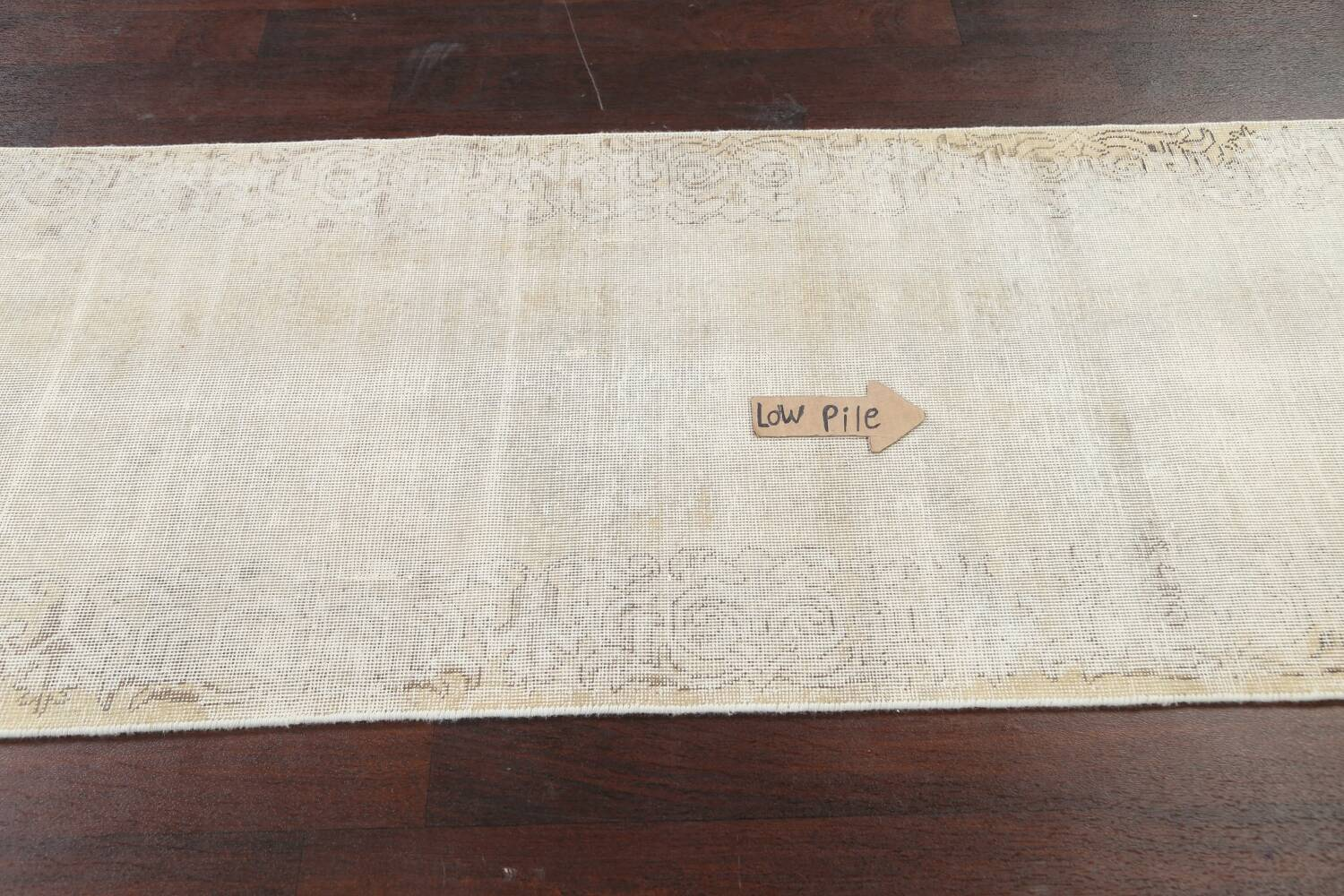 Muted Distressed Tabriz Persian Runner Rug 3x12 image 11